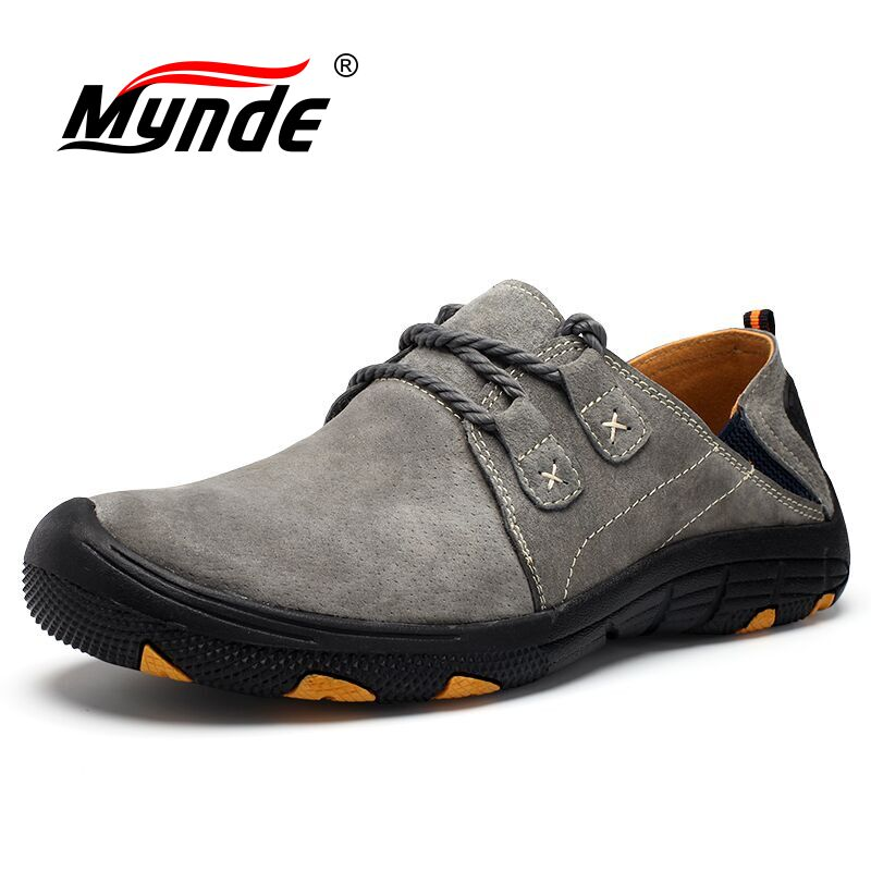 Mynde Men Loafers Shoes Sneakers Suede Outdoor Walking Genuine-Leather New Breathable
