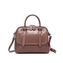 Новейшая роскошная женская Повседневные сумки модный дизайн натуральная кожа женская сумка на плечо брендовая сумка для леди