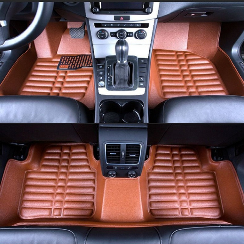 Car Floor Mats Covers top grade anti scratch fire resistant durable waterproof 5D senior mats for HONDA-CIVIC,ect,Car Styling