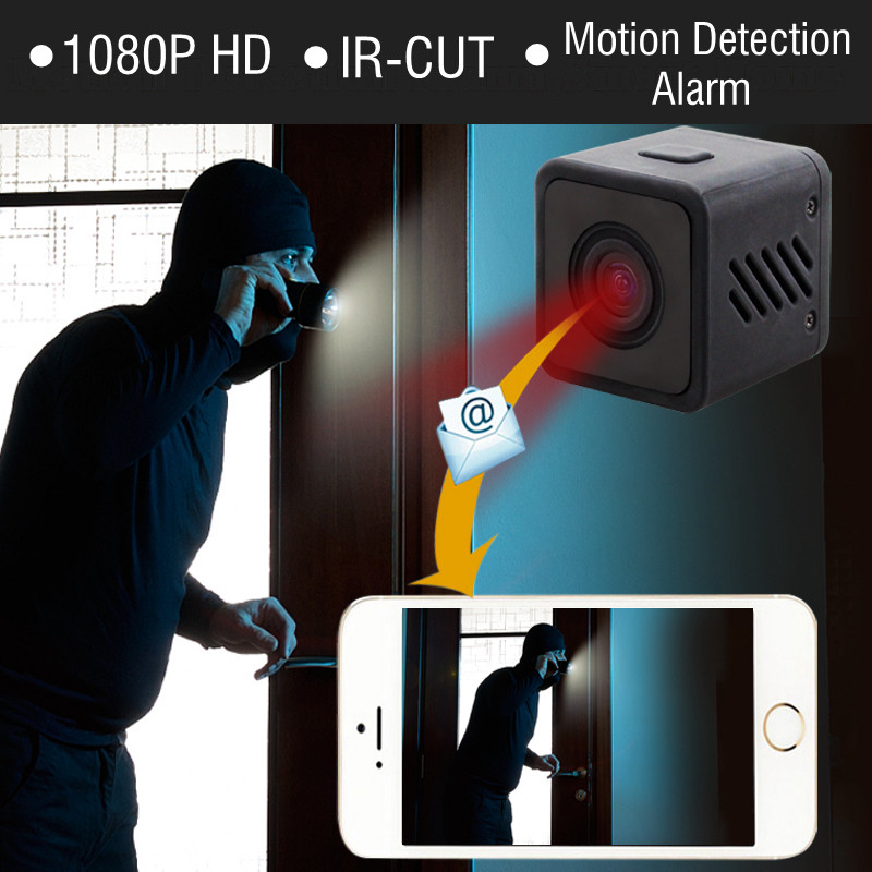 1080P HD Mini WIFI IR CUT Camera Wireless Infrared Night Vision Small Cam wi fi IP