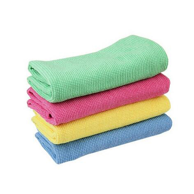 Tidyladdy 4 Pieces Microfiber Kitchen Durable Pearl Cleaning Cloth Set 30x40cm Dish Washing Towels Absorption Gl