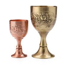 Copas Vintage del Mar Mediterráneo 40-120ML Drinkware delicado cobre hecho a mano grabado patrón de flor vino vidrio Drinkware