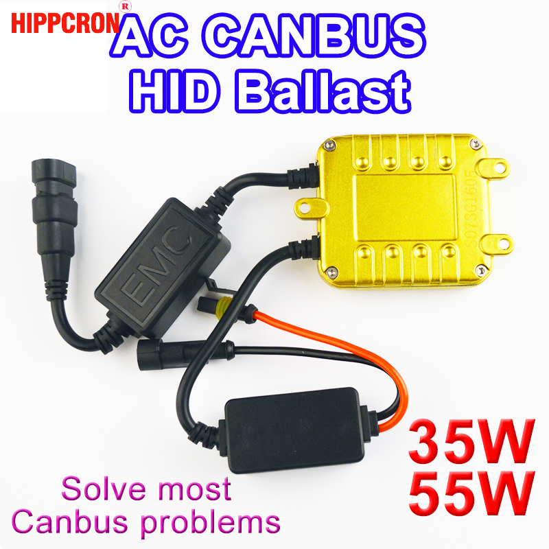 hippcron High Quality AC CANBUS Ballast 35W / 55W for HID XENON Conversion Kit CAN BUS Headlight Lamp Car Light Auto Bulb new auto ac condenser for coaster bus