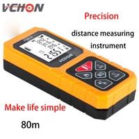 VCHON Laser Infrared Range Finder 80 Meters High Precision Measuring Instrument Laser Electronic Measuring Room Equipment