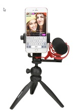 Ulanzi Phone Video Holder Tripod Flexible Vertical Bracket Mount Hot Shoe Desk Stand for iPhone Youtube Live Streaming Vlogging