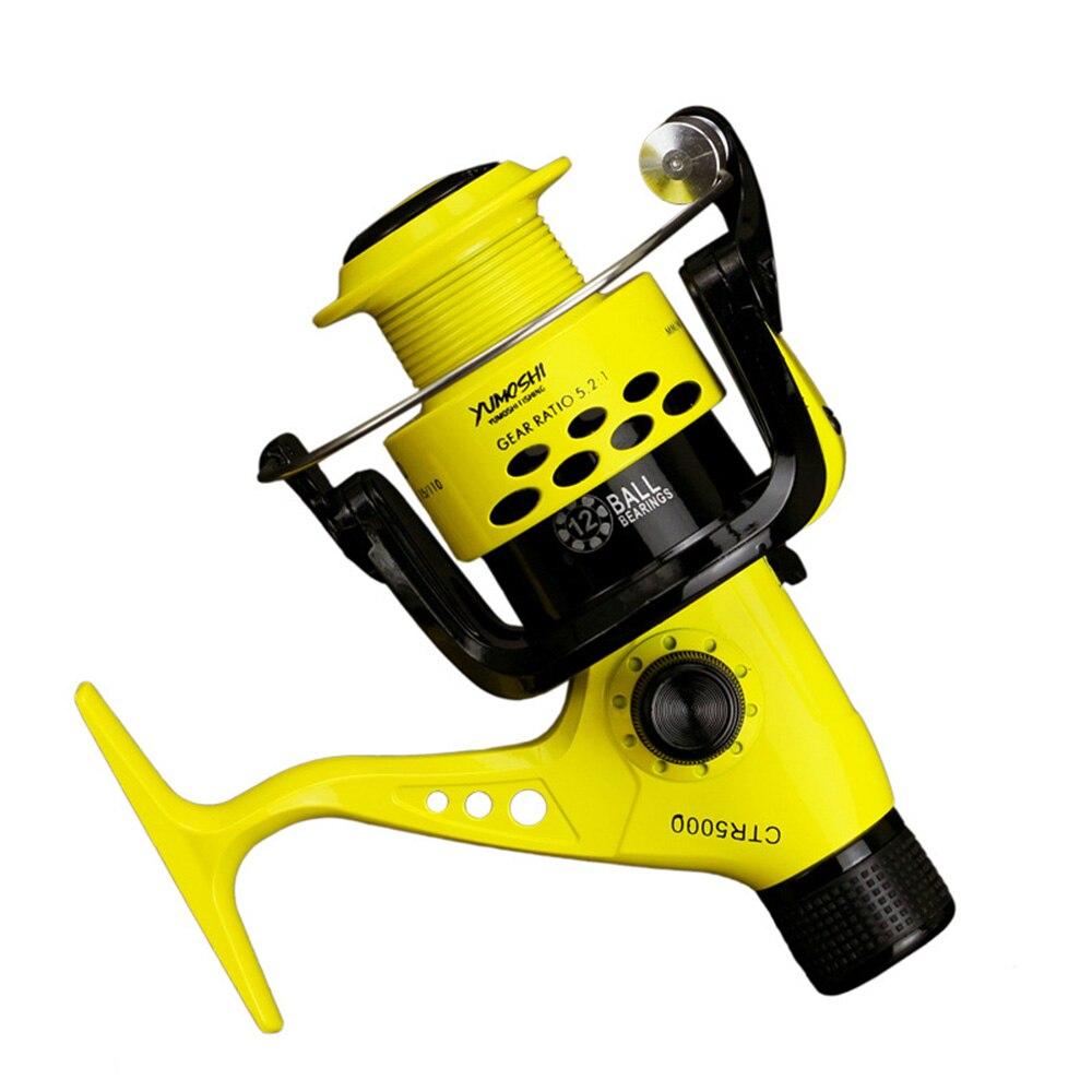 Yumoshi 12bb Fishing Reels 2000 7000 5.5:1 Foldable Arm Rocker Spinning Reel Lightweight Rear Drag Spool Fish Spinning Wheels