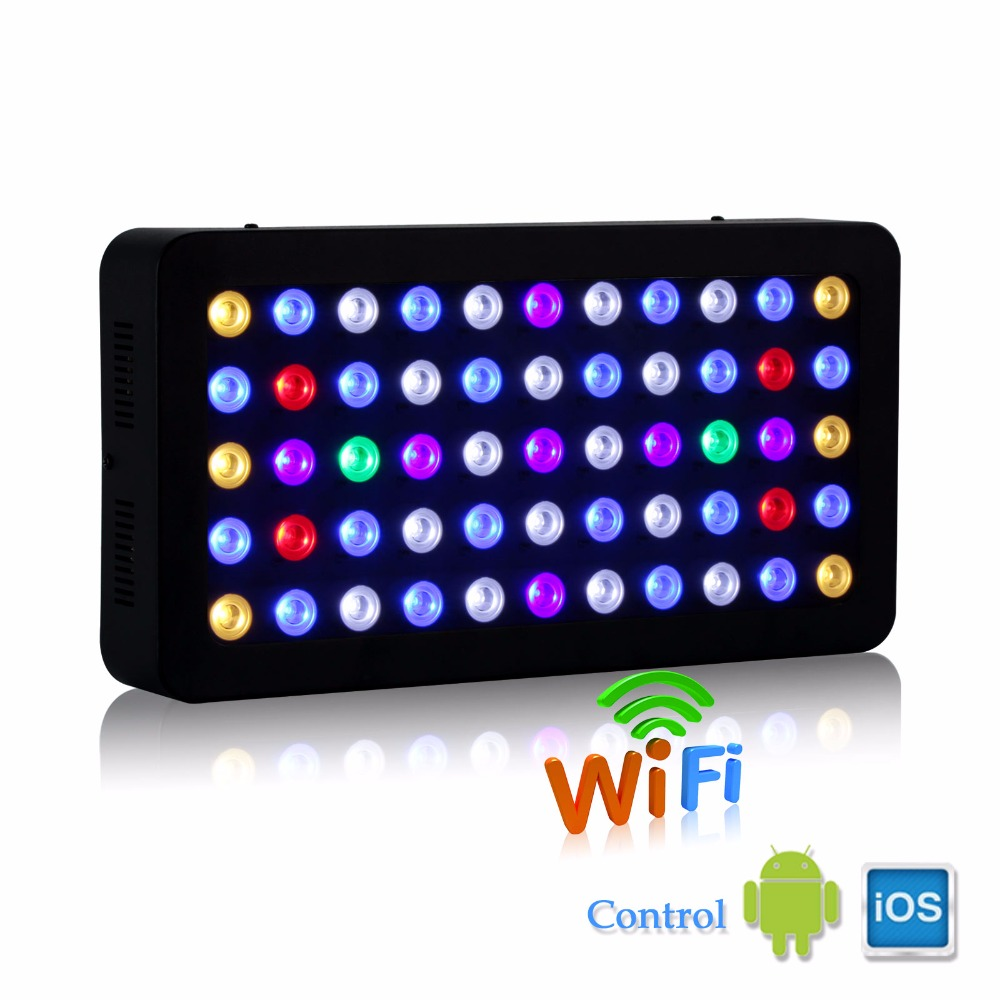 populargrow 165w WIFI Dimmable LED Aquarium Light marine light aquarium led lighting lamp for reef coral fish