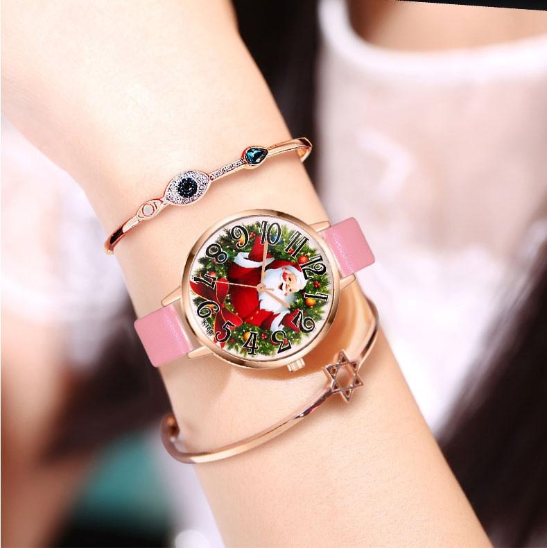 Women Watch Christmas Leather Band Analog Quartz Vogue Wrist Watches Gift  watches relogio feminino watch women 2018