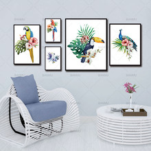 Colorful Exotic Birds Wall Art