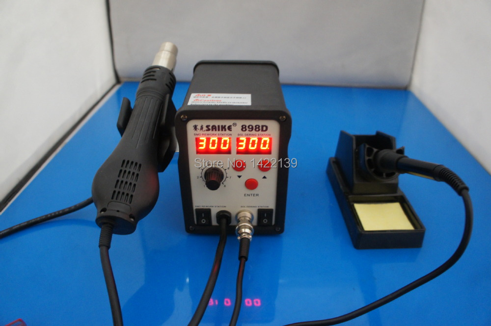 SAIKE 898D Hot Air Gun 2 IN 1 Rework Soldering Desoldering Station SMD IRON