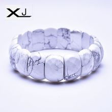 XJ Natural White pine Stone Bracelet Jewelry Handmade Beads Mans Bracelets Creative Gifts