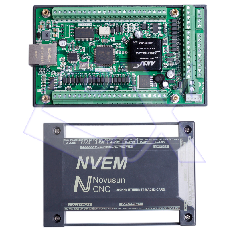 US $116 95 |Freeshipping NVEM V2 1 6 axis CNC Controller 200KHZ Ethernet  MACH3 Motion Control Card support 6 axis stepper motor control-in Motor