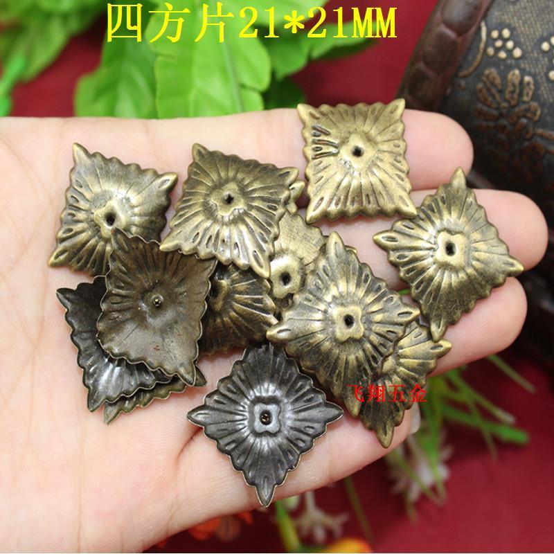 21 21 21 21mm 100pcs Square Piece Wooden Gift Box Decorative Hardware Corner Jewelry Box Antique Nail