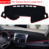 Car Styling Dashboard Avoid Light Pad Polyester For Toyota Yaris L 2014 2017 Instrument Platform Desk