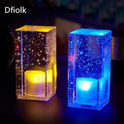 carregamento bar personalidade lampada de cristal bar levou mesa de luz da noite da lampada