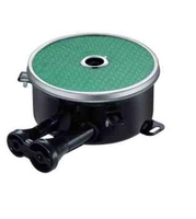 Customized 2 Pipe Side Inlet Gas Cooking Burners 110 200mm Enamelled Infrared Cooktop Burner Green Ceramic