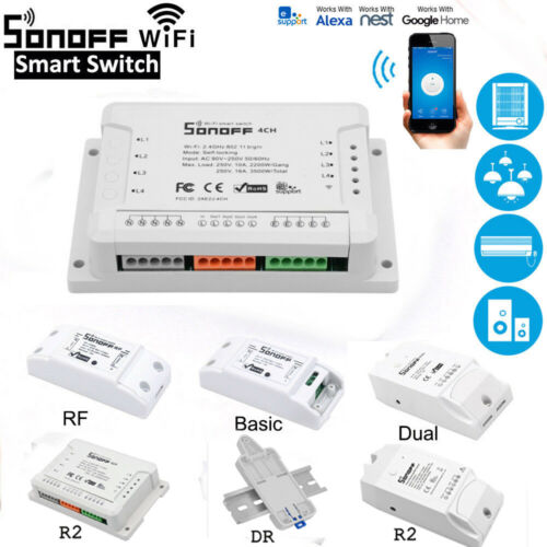 2019 Sonoff Smart WiFi Wireless APP Switch Module Control For Apple Android/IOS