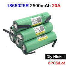 inr18650 25r with diy nickel 20a 2500mah lithium battery Turmera INR18650-25R 20a battery for electronic cigarette inr18650 25r
