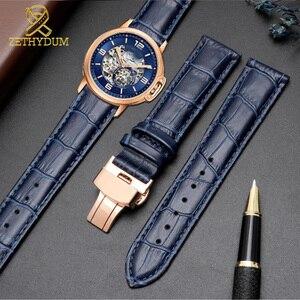 Genuine leather bracelet dark