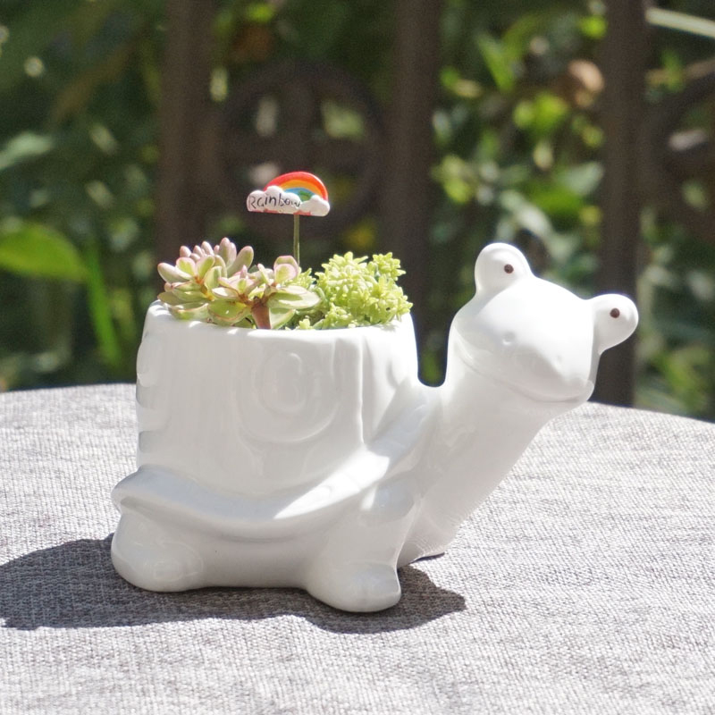 Piccolo animale di ceramica vaso di porcellana super white for Vaso di porcellana