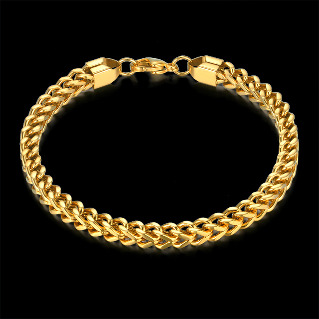 Gold Link Bracelet For Women Men Cuban Chain Color Fashion Brand Mens Braclets