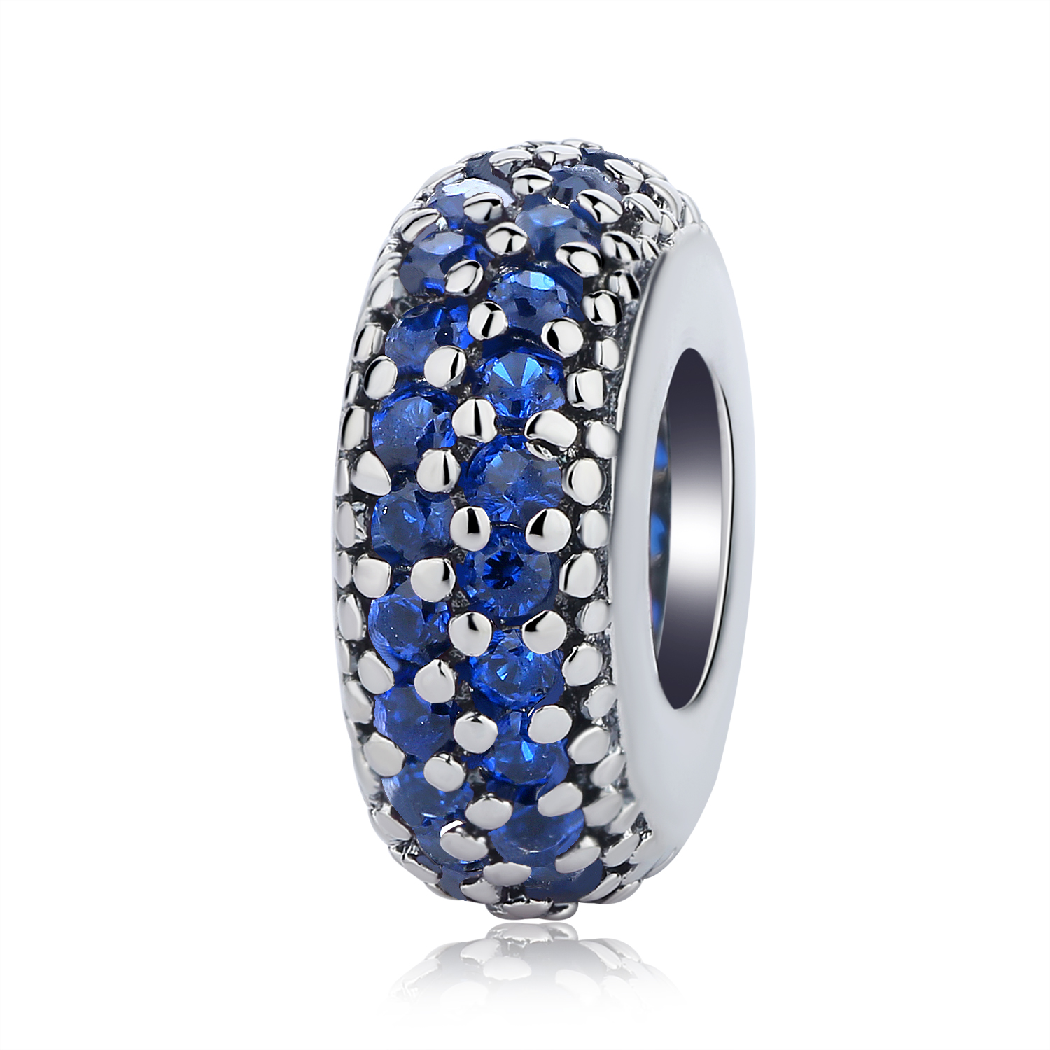NBSAMENG Authentieke 925 Sterling Zilver Micro-pave Pure Color Spacer - Mode-sieraden - Foto 4