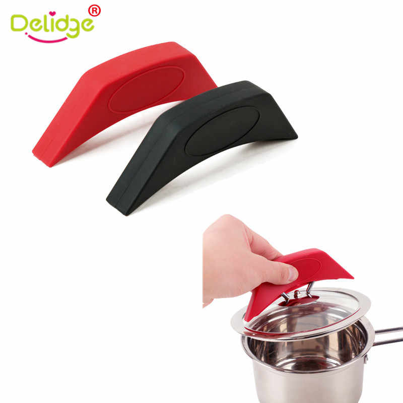 Delidge 1 pc Silicone Assist Handle Holder Pot Cover Heat Insulated Finger Gloves Kitchen Cooking Tool Dropshipping