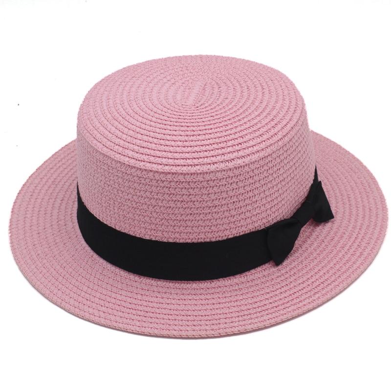 Women Men Kid Children Boy Girl Boater Hat Straw Sailor Cap Sunhat Fedora Trilby