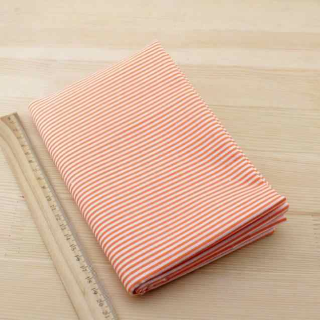 2016 Fat Quarter Orange  Strips Designs Patchwork Cotton Fabric Home Textile Sewing Lining Tecido News Beginner's Practice