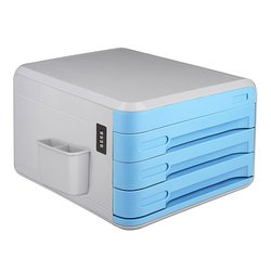 Office supplies desk drawer organizer 4 drawer file cabinet lockable storage box with side compartment pencil.jpg 250x250
