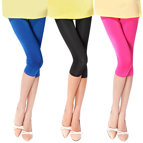 2016 New ArrivalWomen's Candy Color Stretchy Cropped Leggings Ultra Thin Shorts Pants 3FW6D