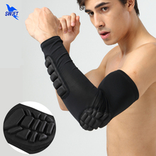 1 Pair Strengthen Honeycomb Breathable Sports Elbow Protector Crashproof Basketball Elbow Pads Support Guards Arm Sleeve Warmers