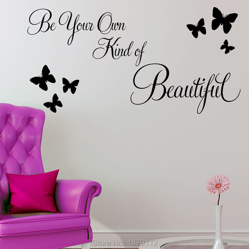 2016 real wall stickers vinilos paredes be your own kind of beautiful quote wall sticker home