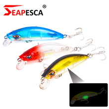 SEAPESCA Constructed-in Lighting Module Minnow Lure 70mm 11.4g Sinking Floating Arduous Bait 3D Laser Eyes Lengthy Casting Crankbaits YA90