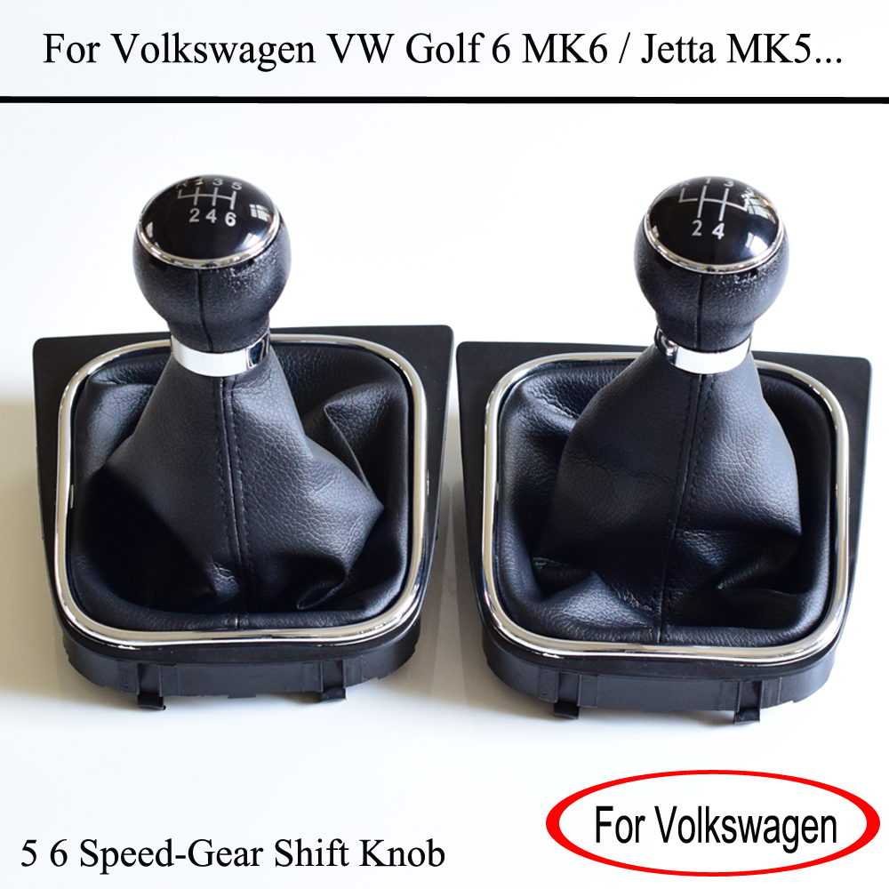 MT Gearshift Shifter Stick Lever Headball With Dust-Proof Cover For Volkswagen VW Golf 6 MK6 For Jetta MK5 Car Accessories