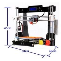 zrprinting A8 3D Printer 0.4mm Nozzle Reprap i3 Aluminium Alloy Hotbed Pritner DIY Kit Filament