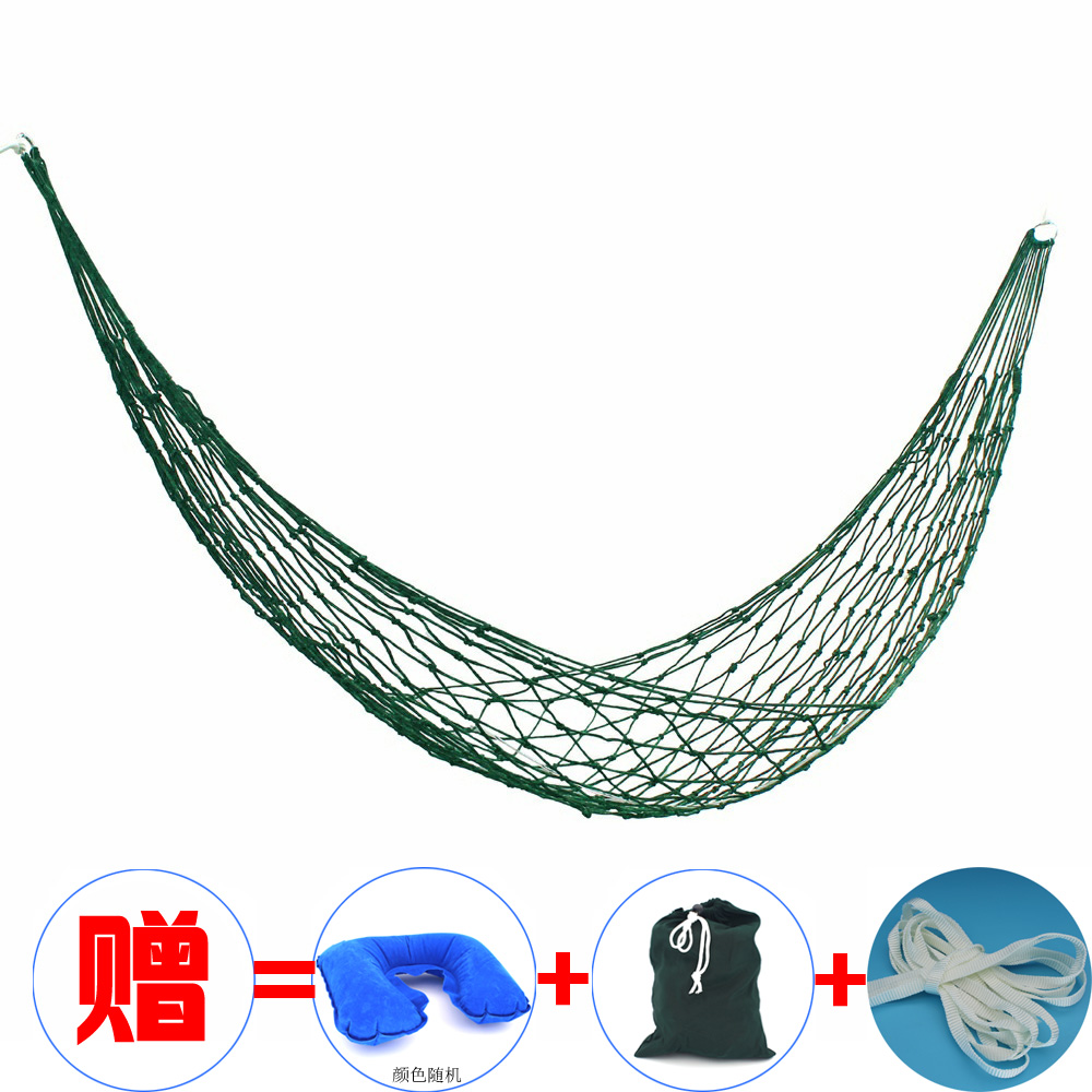 Dormitory Hanging Chair Nylon Rope Indoor Net Cotton Rope Hanging Bed Outdoor Net Pocket Beach Camping Swing For AdultsDormitory Hanging Chair Nylon Rope Indoor Net Cotton Rope Hanging Bed Outdoor Net Pocket Beach Camping Swing For Adults