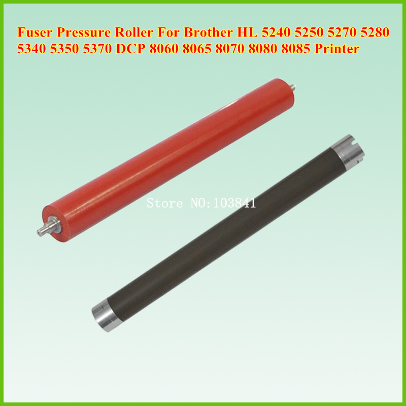 Upper and lower Fuser Pressure roller for Brother HL 5240 5250 5270 5280  5340 5350 5370 DCP 8060 8065 8070 8080 8085 Printer 1pcs for brother printers mfc9140 9330 9340 hl3150 upper fuser roller