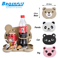 BROSHOO Lovely Cartoon Shaped Folding Auto Car Back Seat Table Drinks food Holder the car multifunctional