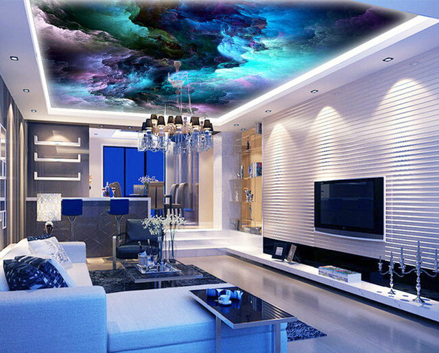 Custom ceiling wallpaper, the sky is used for apartment, house ...
