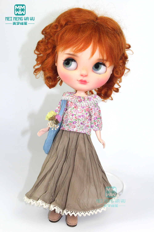 1PCS Blyth Doll Clothes Printed Lantern Shirt, Casual Dress For Blyth Azone 1/6 Doll Accessories