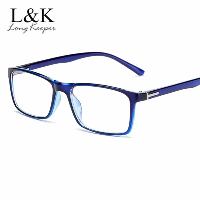 New Classic Male Square Eyeglasses Blue Optical Frame Transparent Fashion Women Retro Vintage Optical Glasses Reading Eyewear Invigorating Blood Circulation And Stopping Pains