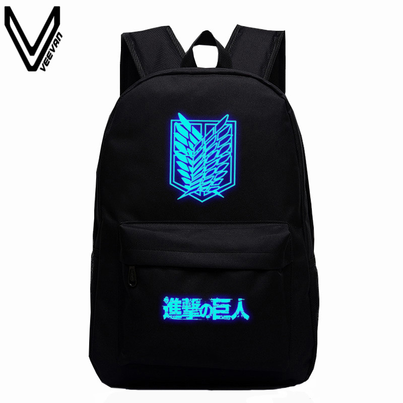 2016 Hot Sale Attack on Titan Bag Japan Anime Printing Backpacks For Teenagers School Student Bag Fans Best Collection Souvenirs woll diamond titan best 1724tb