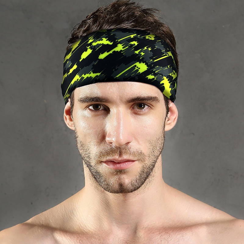 New Outdoor Sport Headband Anti-Sweat Breathable Tennis Fitness Running Head Men & Women Overgrip Bandage Quick-dry Sweatband