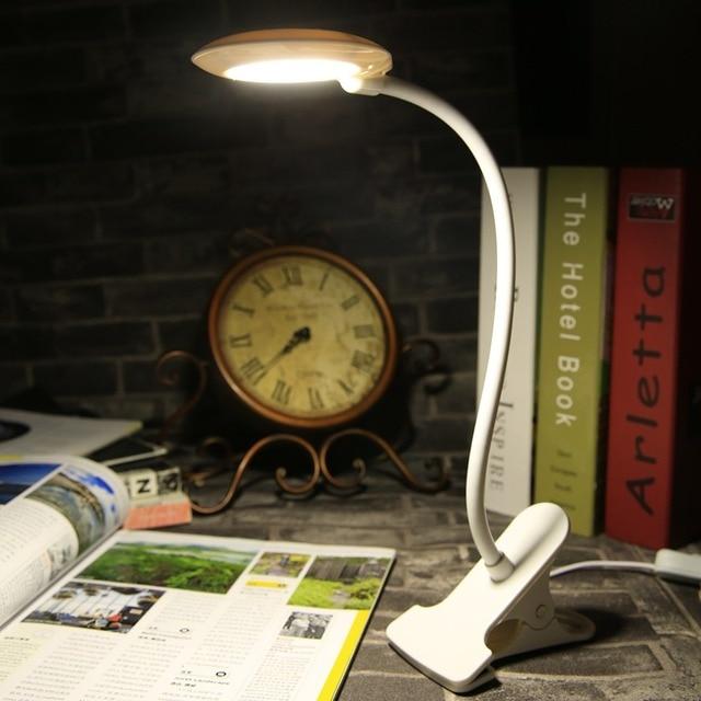 1Pc Modern White Bright Clip LEDs USB Mini Light Flexible Computer Lamp Laptop PC Desk Reading Adjustable Table Lights