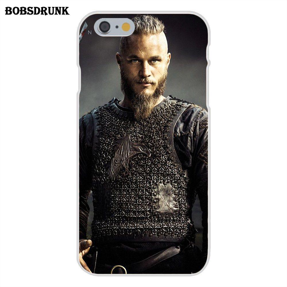 EJGROUP For Apple iPhone X 8 7 6S 6 SE 5C 5S 5 4S 4 Plus Soft Silicone TPU Transparent Covers Case Ragnar Lothbrok Vikings