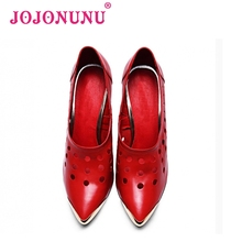 women real genuine leather stiletto pointed toe high heel shoes brand sexy fashion pumps ladies heeled shoes size 34-39 R6087