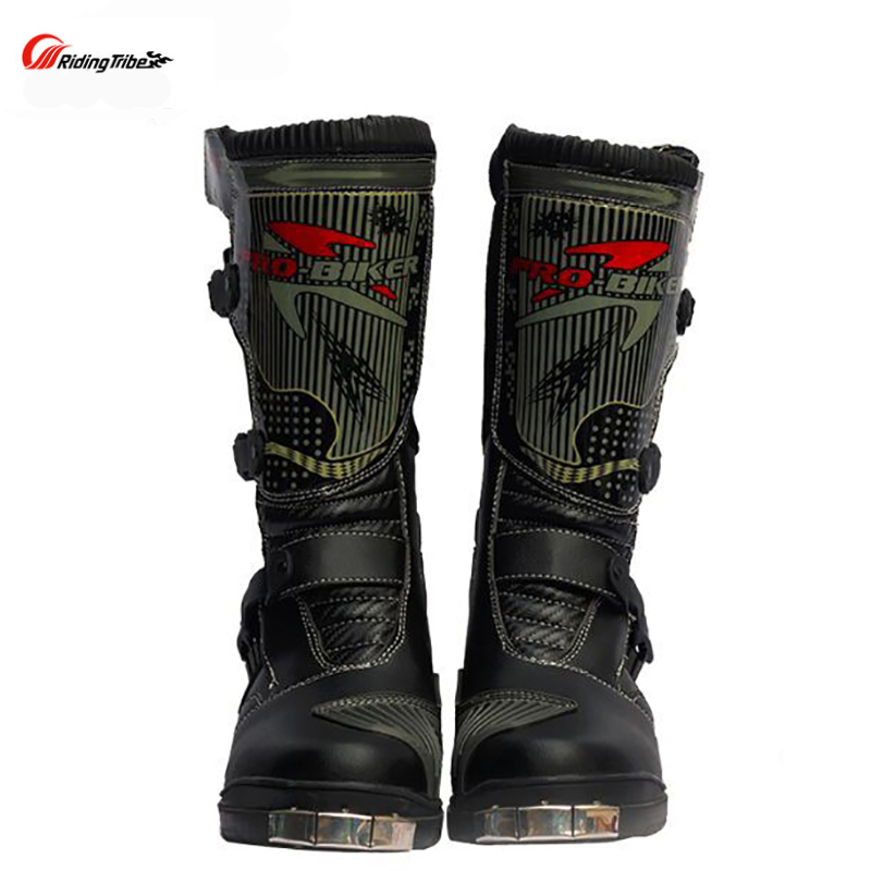 Riding Tribe Motorcycle Waterproof Boots PU Leather Rain BOTAS Racing Professional SPEED Racing Botte Motorcross Motorbike Boots riding tribe motorcycle waterproof boots pu leather rain botas racing professional speed racing botte motorcross motorbike boots