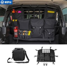 MOAPAI Stowing Tidying for Wrangler JK JL Car Rear Seat Back Trunk Storage Bag Jeep 2007-2019 Accessories