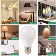 LAN MU 10PCS LED Bulb E27 1W 3W 5W 7W 9W 12W 15W SMD 2835 Real Power Led Light Bulb AC 220V Cold Warm White Led Spotlight Lamp